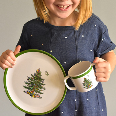 Childrenu0027s Holiday Dinnerware : kids christmas dinnerware - pezcame.com